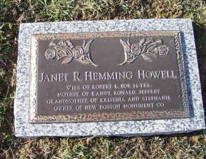 HEMMING HOWELL, JANET R. - Adams County, Ohio | JANET R. HEMMING HOWELL - Ohio Gravestone Photos