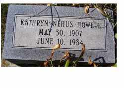 NEHUS HOWELL, KATHRYN - Adams County, Ohio | KATHRYN NEHUS HOWELL - Ohio Gravestone Photos