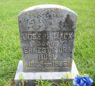 HULL, JOSEPH MACK - Adams County, Ohio | JOSEPH MACK HULL - Ohio Gravestone Photos