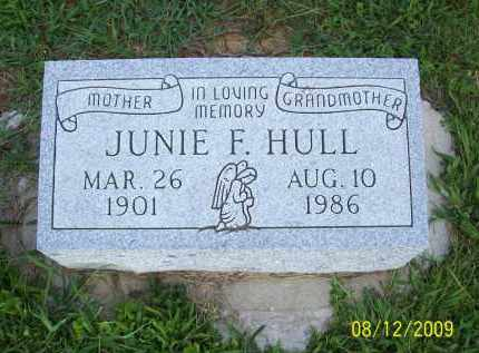 HULL, JUNIE F - Adams County, Ohio | JUNIE F HULL - Ohio Gravestone Photos