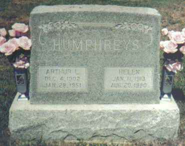 HUMPHREYS, ARTHUR L. - Adams County, Ohio | ARTHUR L. HUMPHREYS - Ohio Gravestone Photos