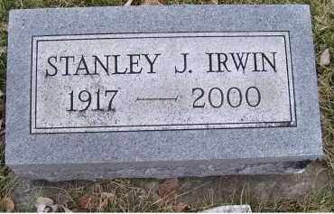 IRWIN, STANLEY J. - Adams County, Ohio | STANLEY J. IRWIN - Ohio Gravestone Photos
