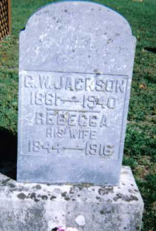 JACKSON, REBECCA - Adams County, Ohio | REBECCA JACKSON - Ohio Gravestone Photos