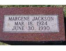 JACKSON, MARGENE - Adams County, Ohio | MARGENE JACKSON - Ohio Gravestone Photos