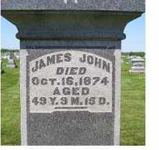 JOHN, JAMES - Adams County, Ohio | JAMES JOHN - Ohio Gravestone Photos