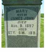 JOHN, MARY - Adams County, Ohio | MARY JOHN - Ohio Gravestone Photos