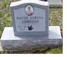 JOHNSON, HATTIE LORENA - Adams County, Ohio | HATTIE LORENA JOHNSON - Ohio Gravestone Photos