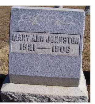 JOHNSTON, MARY ANN - Adams County, Ohio | MARY ANN JOHNSTON - Ohio Gravestone Photos