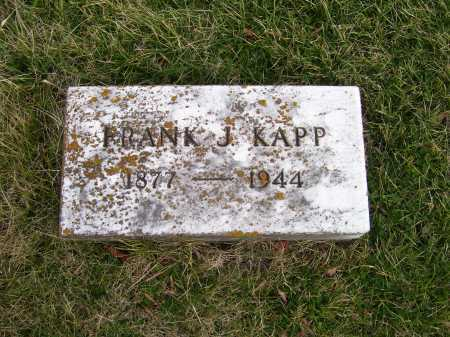 KAPP, FRANK J. - Adams County, Ohio | FRANK J. KAPP - Ohio Gravestone Photos