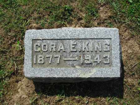 KING, CORA E - Adams County, Ohio | CORA E KING - Ohio Gravestone Photos