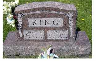 KING, ANNA F. - Adams County, Ohio | ANNA F. KING - Ohio Gravestone Photos