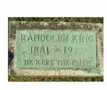 KING, RANDOLPH - Adams County, Ohio | RANDOLPH KING - Ohio Gravestone Photos