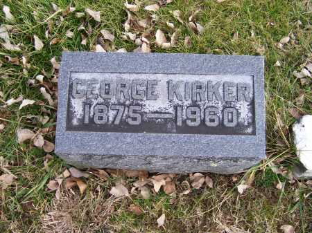 KIRKER, GEORGE - Adams County, Ohio | GEORGE KIRKER - Ohio Gravestone Photos