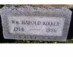 KIRKER, WM. HAROLD - Adams County, Ohio | WM. HAROLD KIRKER - Ohio Gravestone Photos