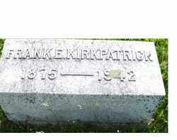 KIRKPATRICK, FRANK E. - Adams County, Ohio | FRANK E. KIRKPATRICK - Ohio Gravestone Photos