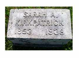 KIRKPATRICK, SARAH A. - Adams County, Ohio | SARAH A. KIRKPATRICK - Ohio Gravestone Photos