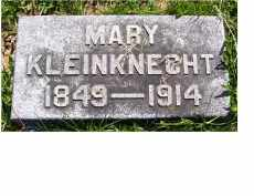 KLEINKNECHT, MARY - Adams County, Ohio | MARY KLEINKNECHT - Ohio Gravestone Photos