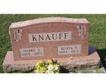 KNAUFF, HARRY J. - Adams County, Ohio | HARRY J. KNAUFF - Ohio Gravestone Photos