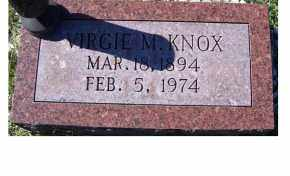KNOX, VIRGIE M. - Adams County, Ohio | VIRGIE M. KNOX - Ohio Gravestone Photos