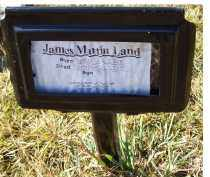 LAND, JAMES MARTIN - Adams County, Ohio | JAMES MARTIN LAND - Ohio Gravestone Photos