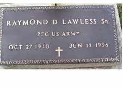 LAWLESS, RAYMOND D. - Adams County, Ohio | RAYMOND D. LAWLESS - Ohio Gravestone Photos