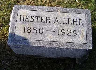 LEHR, HESTER A. - Adams County, Ohio | HESTER A. LEHR - Ohio Gravestone Photos