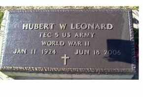 LEONARD, HUBERT W. - Adams County, Ohio | HUBERT W. LEONARD - Ohio Gravestone Photos