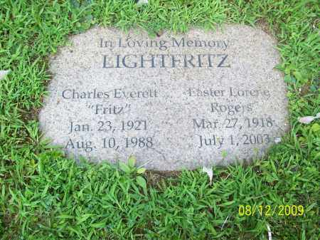 LIGHTFRITZ, CHARLES EVERETT - Adams County, Ohio | CHARLES EVERETT LIGHTFRITZ - Ohio Gravestone Photos