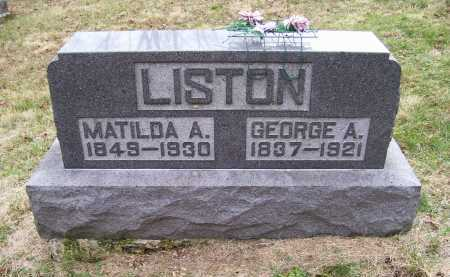 LISTON, MATILDA A. - Adams County, Ohio | MATILDA A. LISTON - Ohio Gravestone Photos