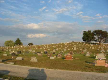 LOCUST GROVE, CEMETERY HILLTOP VIEW - Adams County, Ohio | CEMETERY HILLTOP VIEW LOCUST GROVE - Ohio Gravestone Photos