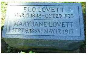 LOVETT, E.L.O. - Adams County, Ohio | E.L.O. LOVETT - Ohio Gravestone Photos