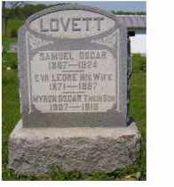LOVETT, MYRON OSCAR - Adams County, Ohio | MYRON OSCAR LOVETT - Ohio Gravestone Photos