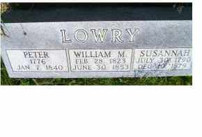LOWRY, PETER - Adams County, Ohio | PETER LOWRY - Ohio Gravestone Photos