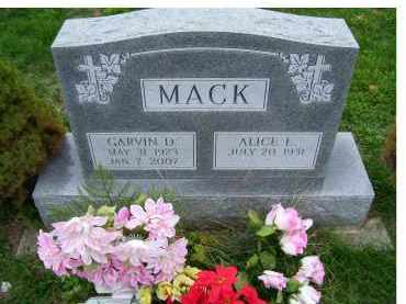 MACK, GARVIN D. - Adams County, Ohio | GARVIN D. MACK - Ohio Gravestone Photos