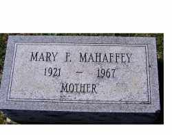 MAHAFFEY, MARY F. - Adams County, Ohio | MARY F. MAHAFFEY - Ohio Gravestone Photos