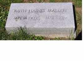 MALLOY, RUTH - Adams County, Ohio | RUTH MALLOY - Ohio Gravestone Photos