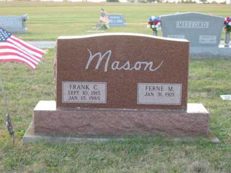 MASON, FRANK C. - Adams County, Ohio | FRANK C. MASON - Ohio Gravestone Photos