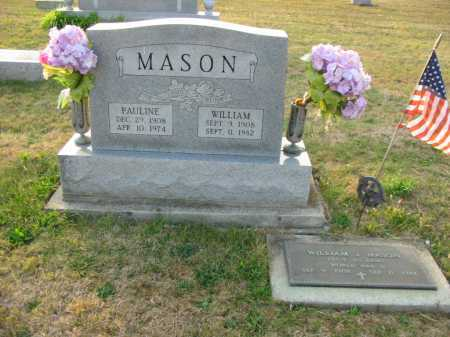 MASON, WILLIAM J - Adams County, Ohio | WILLIAM J MASON - Ohio Gravestone Photos