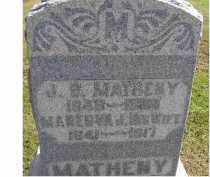 MATHENY, MANERVA J. - Adams County, Ohio | MANERVA J. MATHENY - Ohio Gravestone Photos
