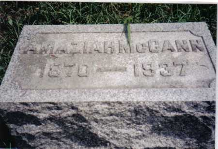 MCCANN, AMAZIAH - Adams County, Ohio | AMAZIAH MCCANN - Ohio Gravestone Photos