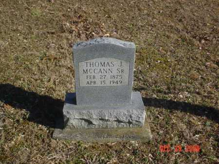 MCCANN, THOMAS J. SR. - Adams County, Ohio | THOMAS J. SR. MCCANN - Ohio Gravestone Photos