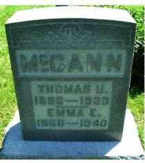 MCCANN, EMMA - Adams County, Ohio | EMMA MCCANN - Ohio Gravestone Photos