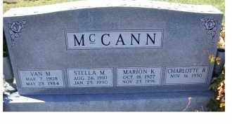 MCCANN, MARION K. - Adams County, Ohio | MARION K. MCCANN - Ohio Gravestone Photos