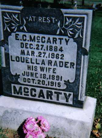 MCCARTY, E. C. - Adams County, Ohio | E. C. MCCARTY - Ohio Gravestone Photos