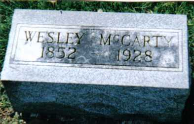 MCCARTY, WESLEY - Adams County, Ohio | WESLEY MCCARTY - Ohio Gravestone Photos