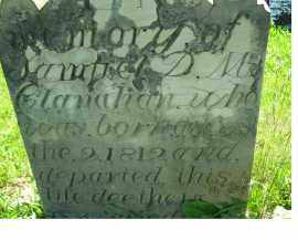 MCCLANAHAN, SAMUEL D. M. - Adams County, Ohio | SAMUEL D. M. MCCLANAHAN - Ohio Gravestone Photos
