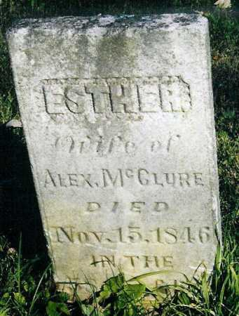 CAMPBELL MCCLURE, ESTHER - Adams County, Ohio | ESTHER CAMPBELL MCCLURE - Ohio Gravestone Photos