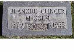 CLINGER MCCOLM, BLANCHE - Adams County, Ohio | BLANCHE CLINGER MCCOLM - Ohio Gravestone Photos