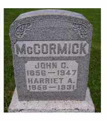 MCCORMICK, HARRIET A. - Adams County, Ohio | HARRIET A. MCCORMICK - Ohio Gravestone Photos