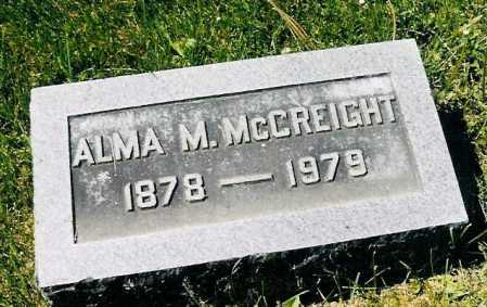 MCCLURE MCCREIGHT, ALMA - Adams County, Ohio | ALMA MCCLURE MCCREIGHT - Ohio Gravestone Photos